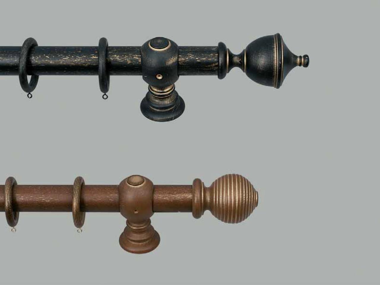 Záclonová tyč dřevěná Chateau
