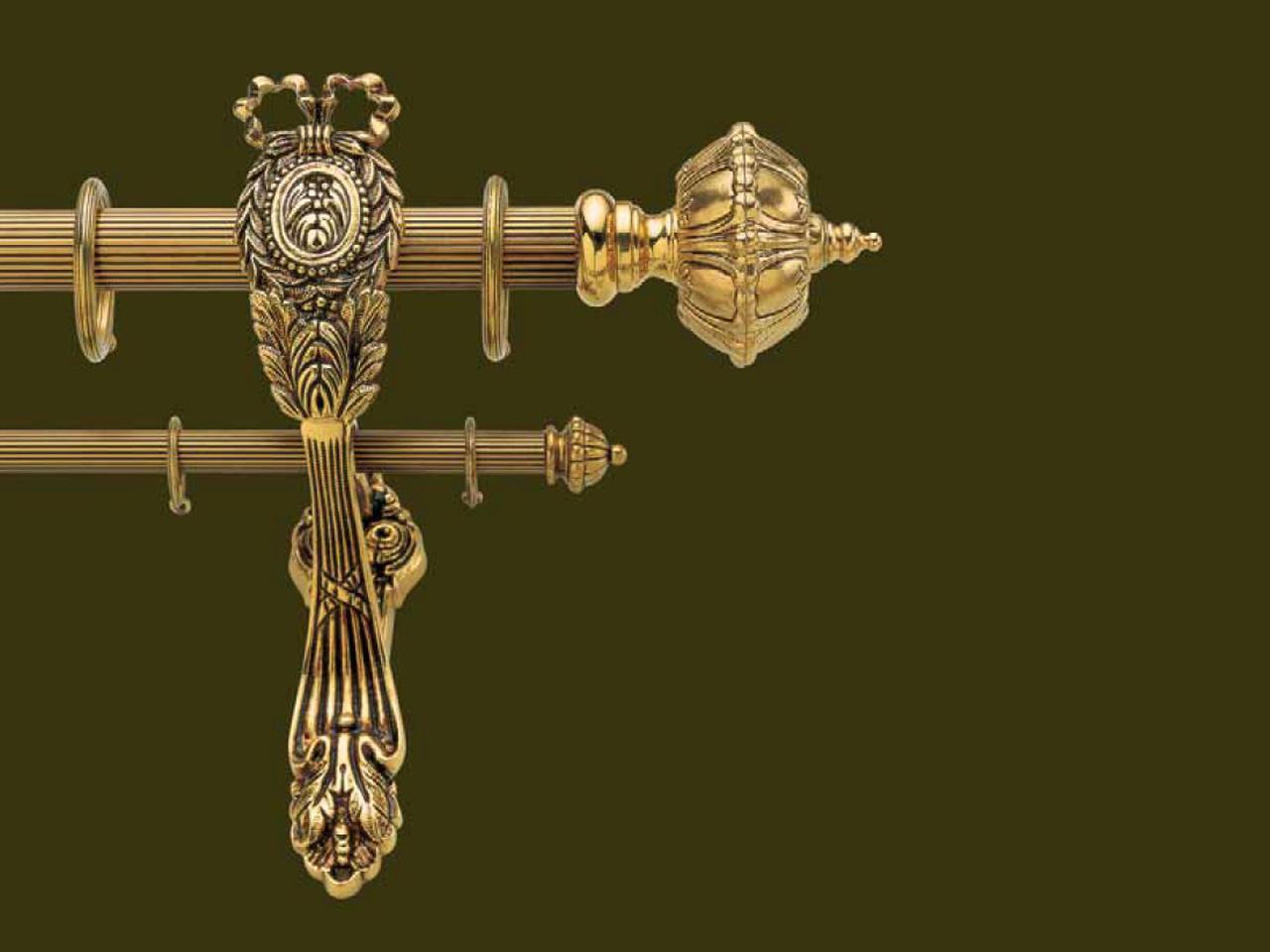 Záclonová tyč mosazná Versaille